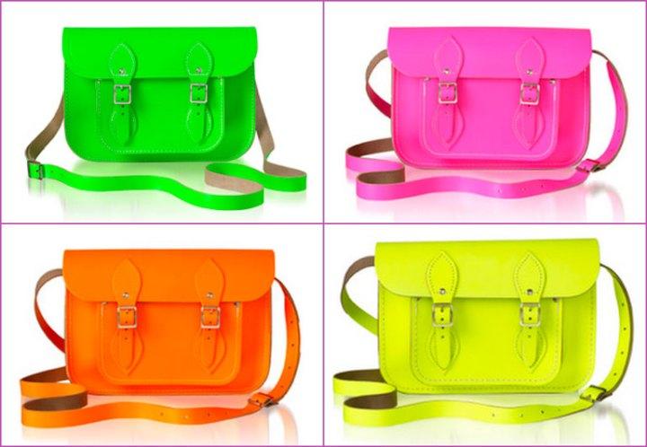 neon satchel bags
