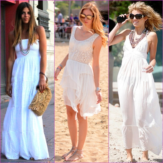 white looks-white beach dresses