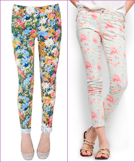 flower jeans