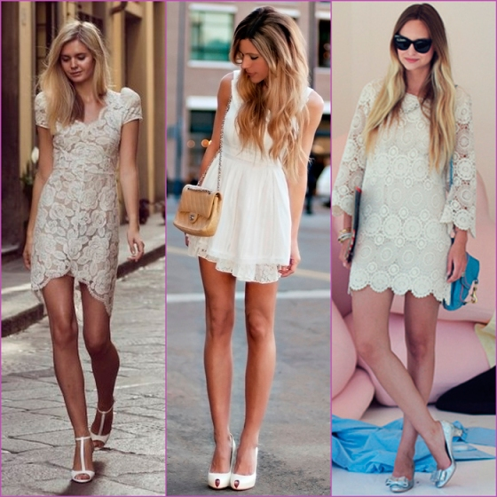white looks - lace dresses