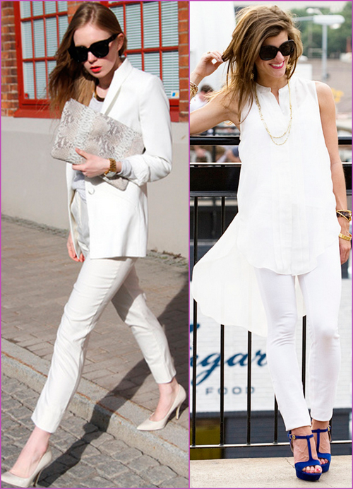 white looks - white pants look