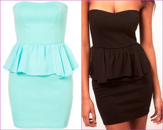 mint peplum dress black peplum dress