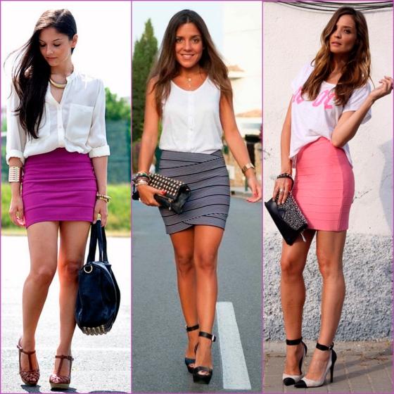 falda lápiz colores - colour pencil skirt