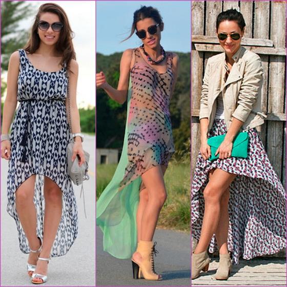 vestidos asimétricos - faldas- estampadas