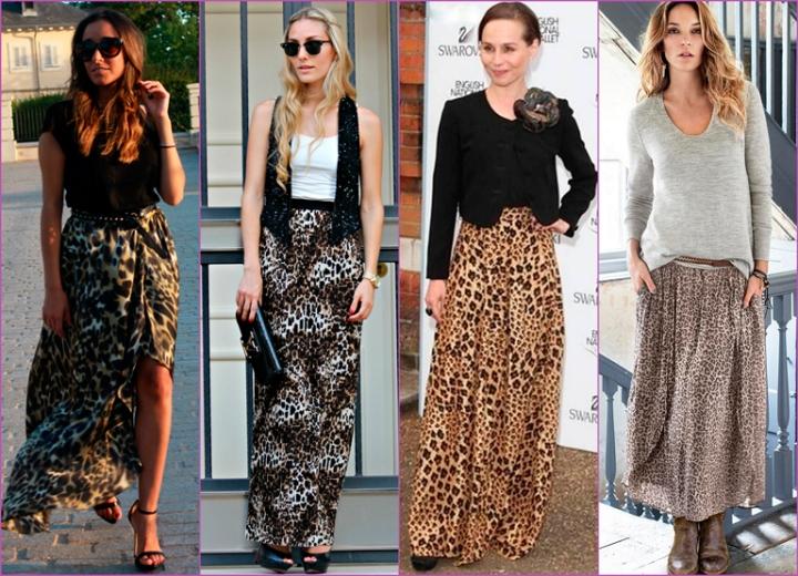 falda estampada leopardo