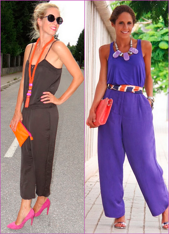 color jumpsuits