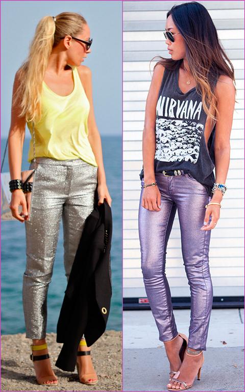 pantalones brilloso