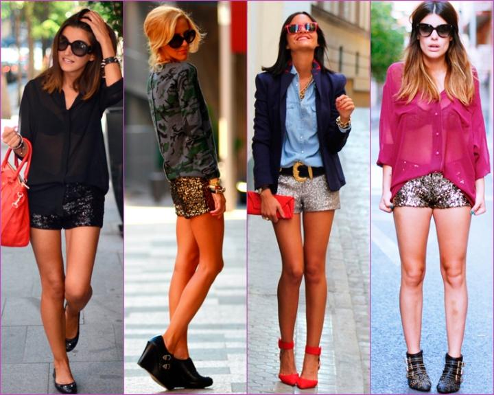 shorts de lentejuelas