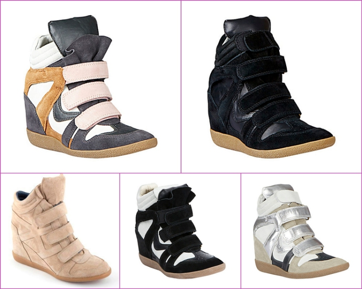black, white, beige, silver and white sneakers