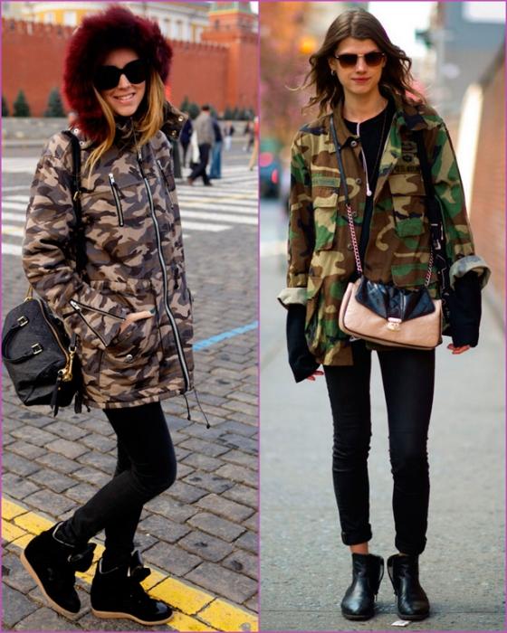 chaqueta de camuflaje - estilo militar