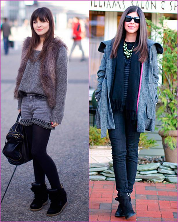 abrigo gris - súeter gris