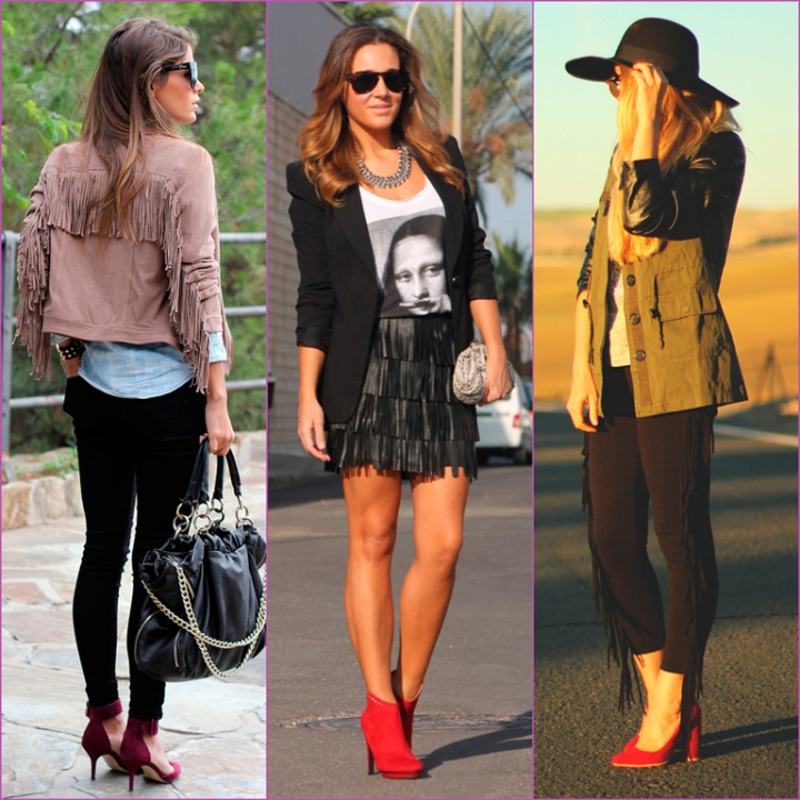 fringed jacket-firnged skirt-fringed pants