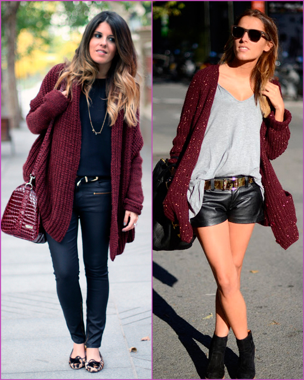 oversized burgundy jacket