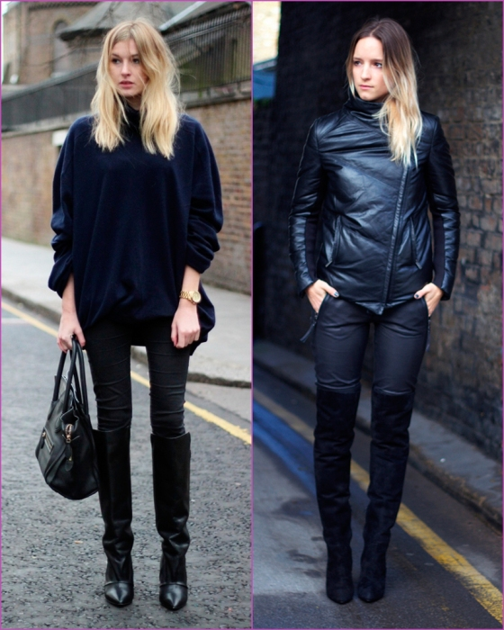 Black look - high boots