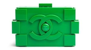 Green chanel lego clutch