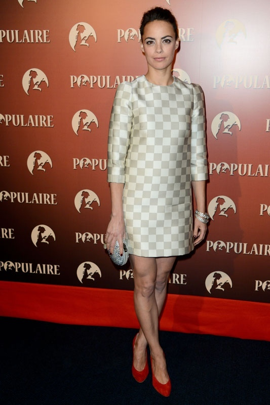 Berenice Bejo in Louis Vuitton checkerboard dress spring summer 2013