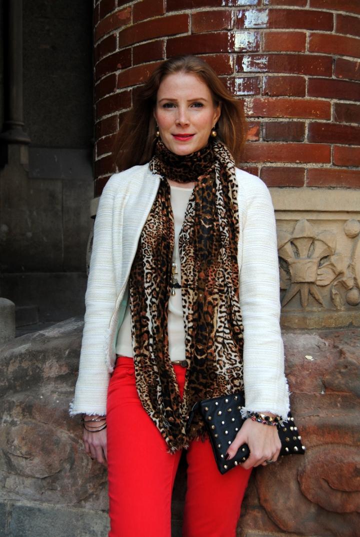 Leopard foulard