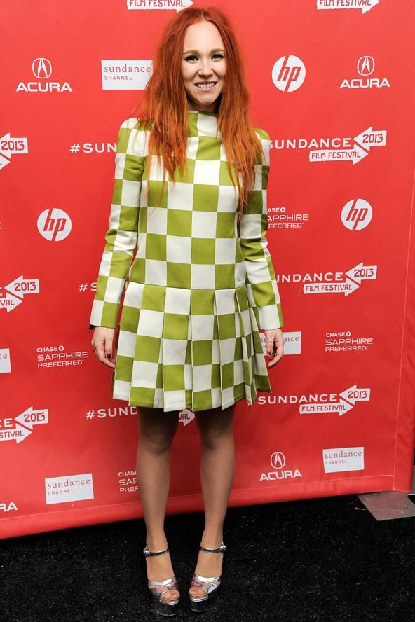Juno Templein Louis Vuitton checkerboard dress spring summer 2013