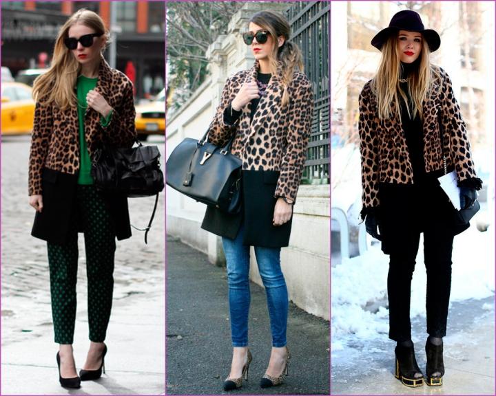 Abrigo Zara de estampado leopardo