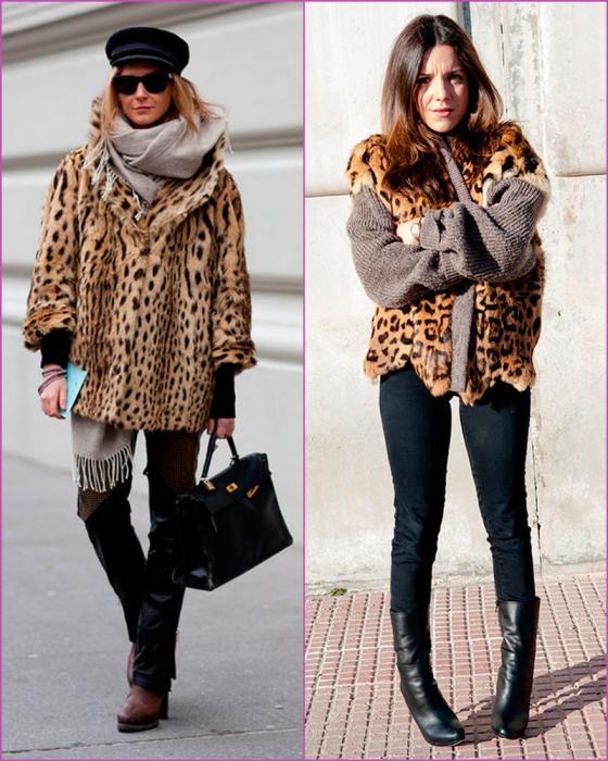 Abrigo corto leopardo