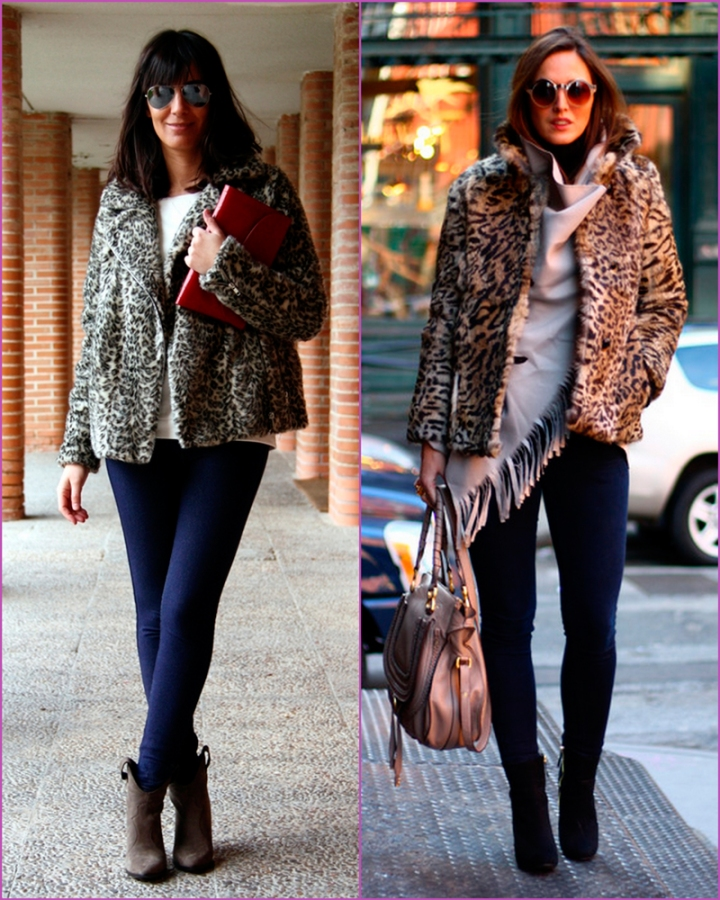 Short leopard print coat