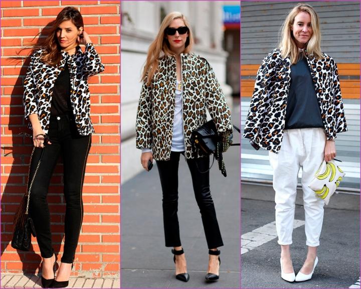 Abrigo estampado leopardo blanco