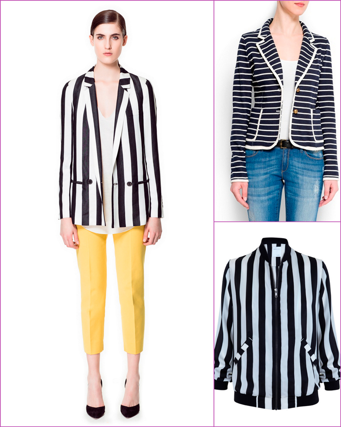 a381f541d chaqueta rayas blancas y negras