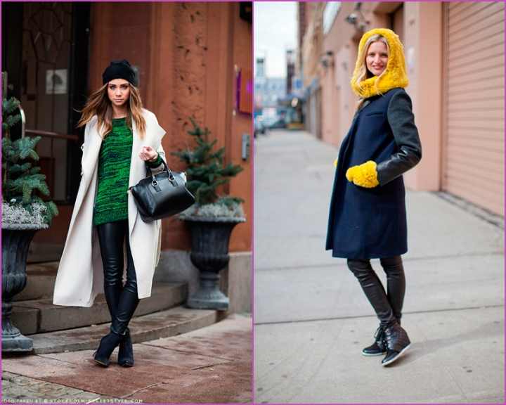 Fall 2013 street style Mercedes Benz New York Fashion Week