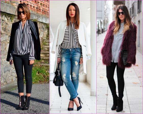 Blusa de rayas blancas y negras