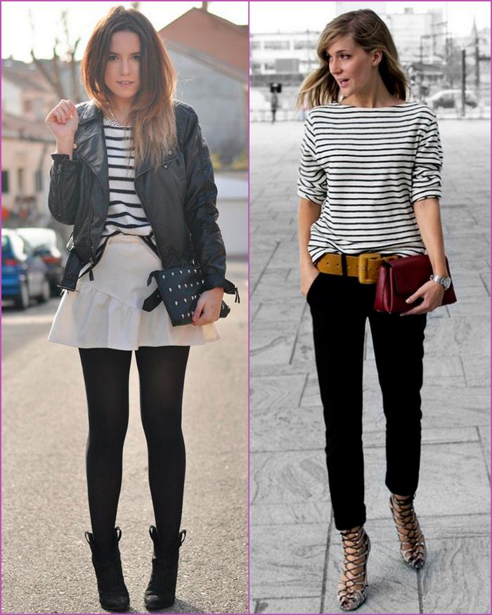 Camisas a rayas blancas y negras