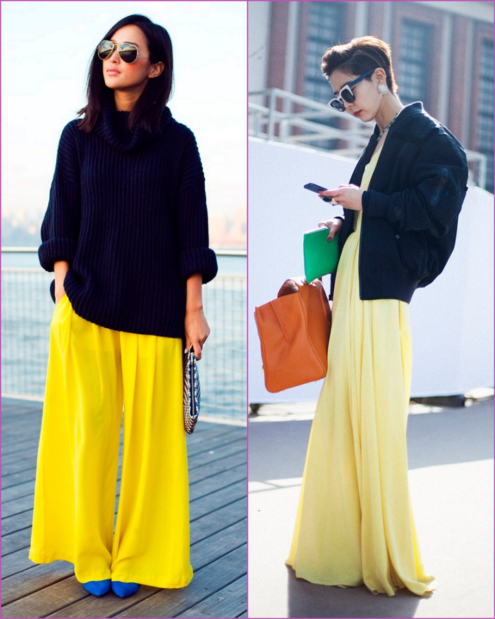 yelow refrehsing fabric pants