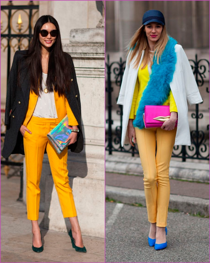 Yellow suit and shiny colors