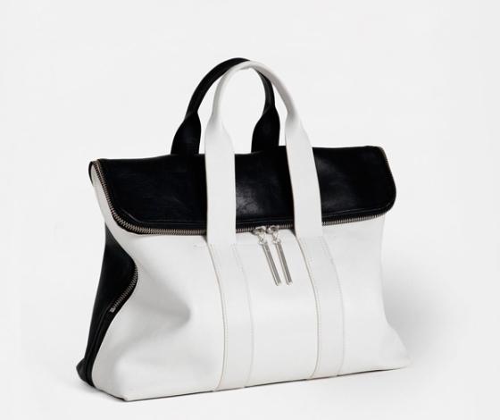 Black and white Hour bag