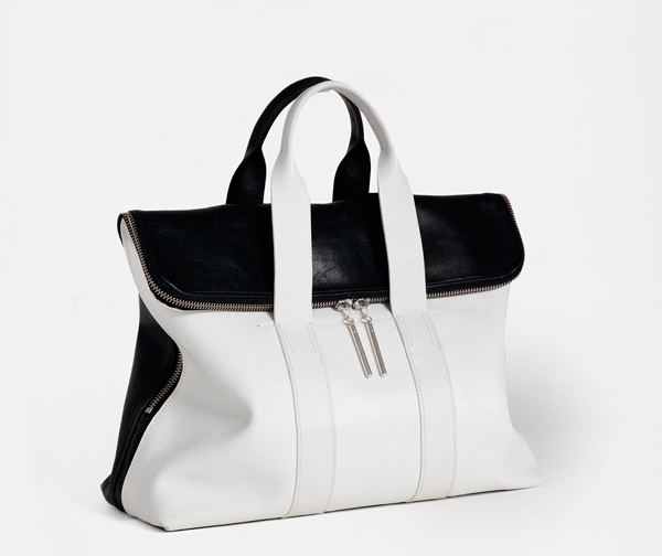 Black and white Hour bag