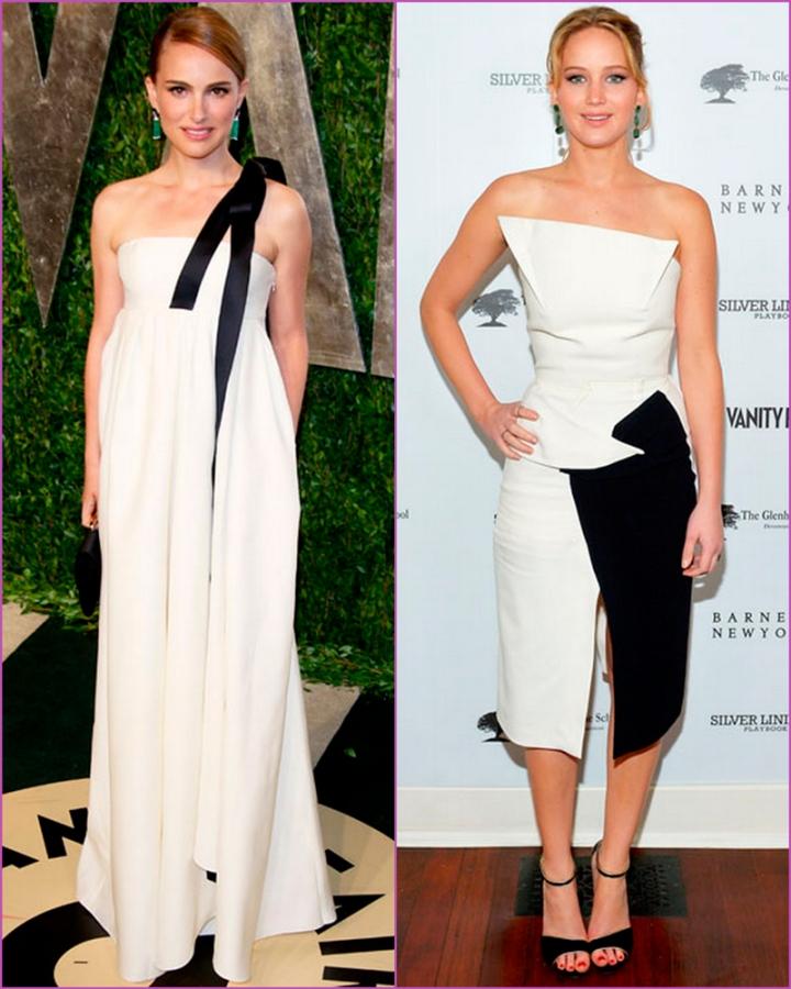 Black and white dressess