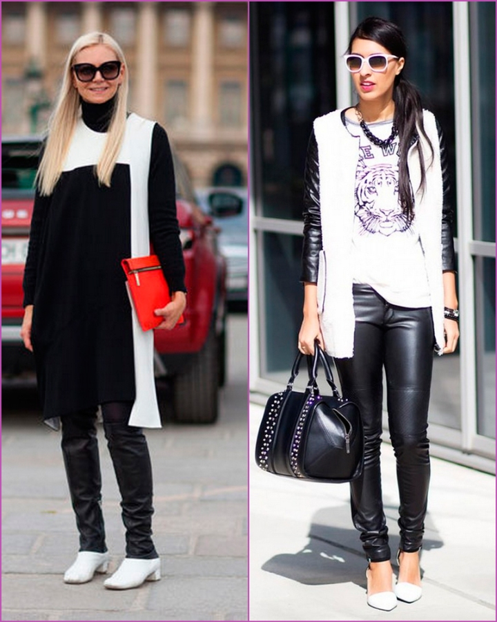 Black and white combination