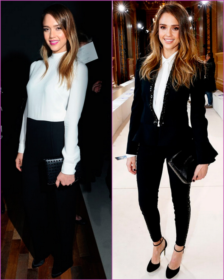 Jessica Alba PAris fashion week front row 2013
