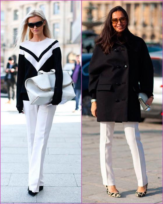 Pantalón blanco en invierno