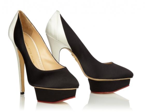 Blak and white masako heels