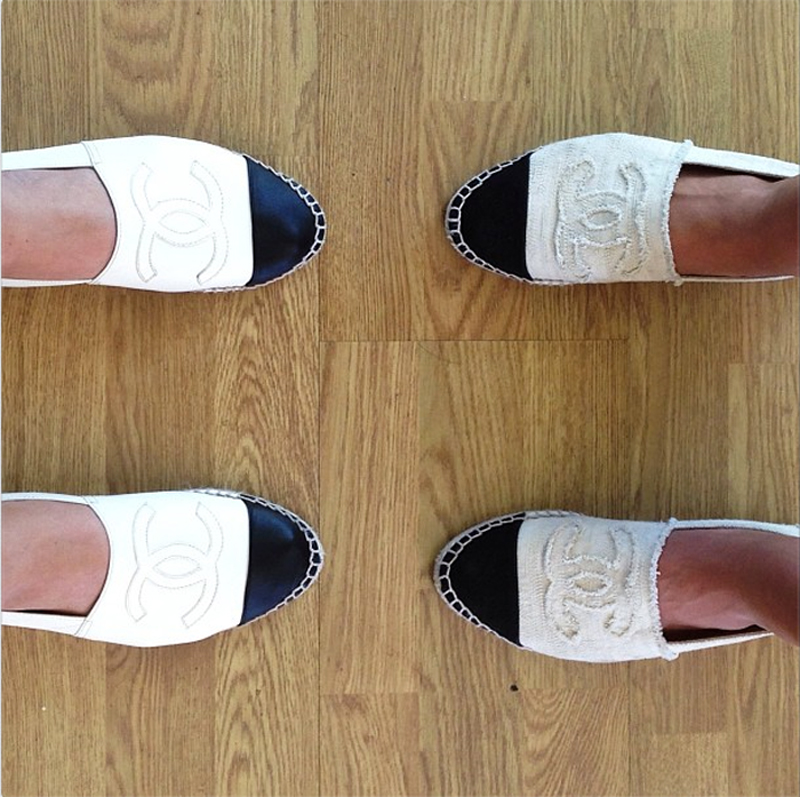 Song of Style , Chanel Espadrilles. Alpargatas Chanel cuero