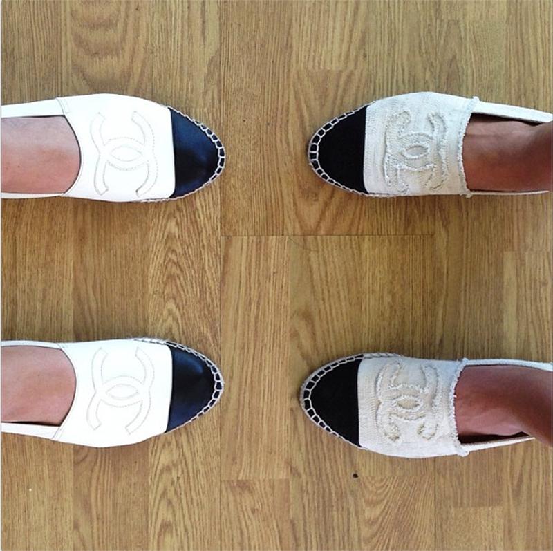 Song of Style , Chanel Espadrilles. Alpargatas Chanel cuero
