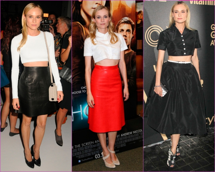 Diane Kruger crop top