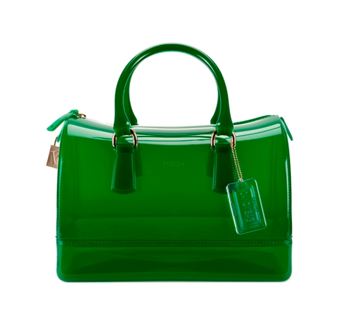 Furla Green Candy Satchel