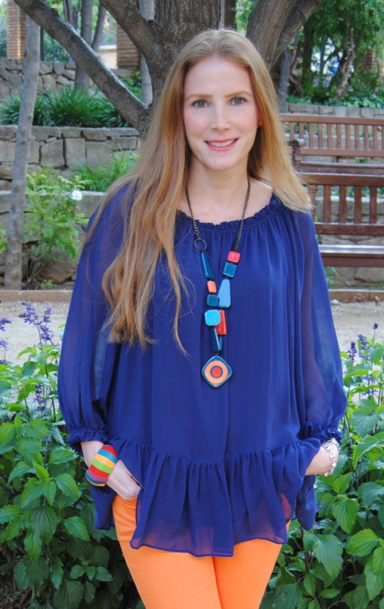 Blue zara blouse