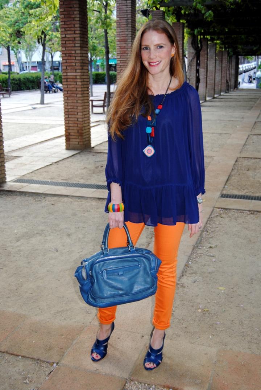 Naranja y Azul