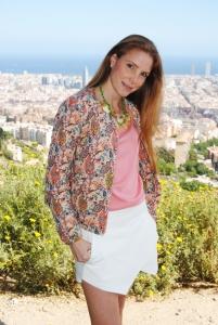 Zara bomber jacket and skort