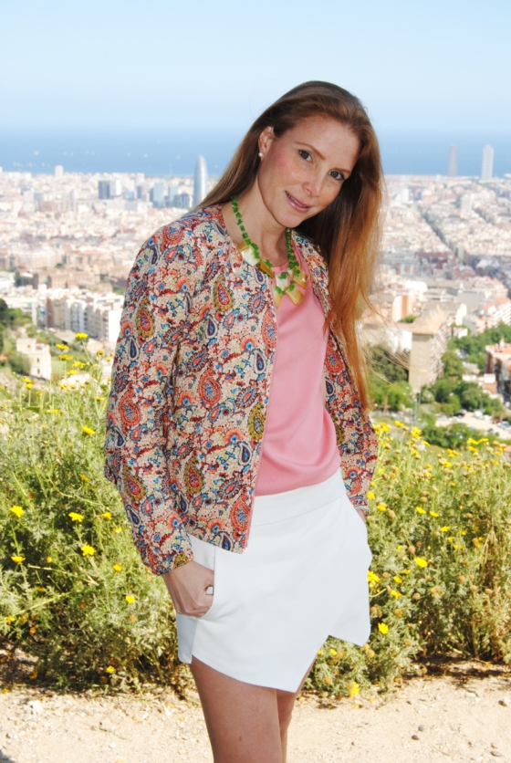 Zara bomber jacket and skort