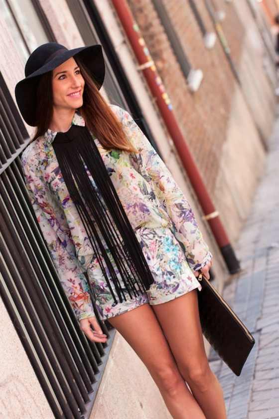 Printed floral shorts