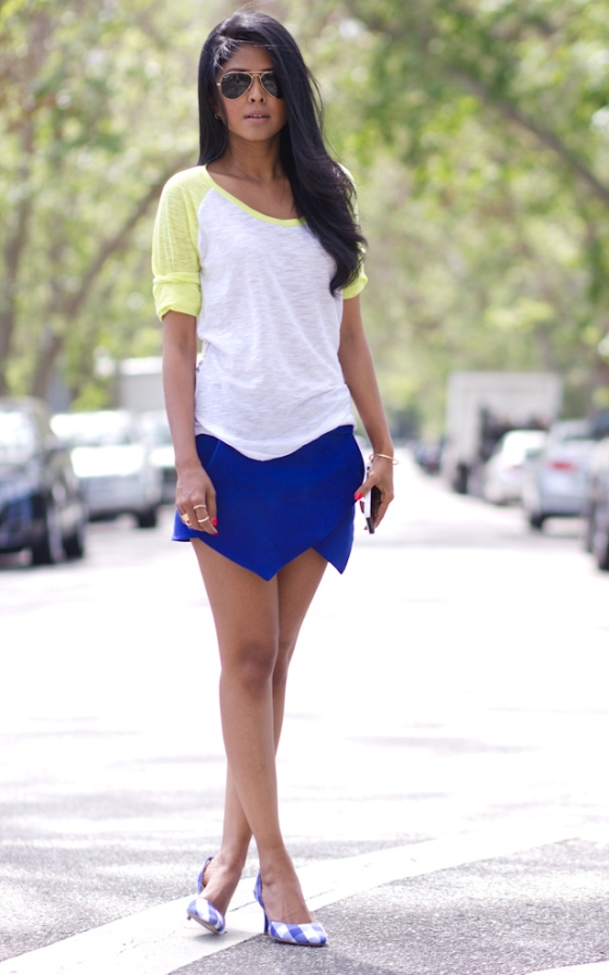 Zara blue skort