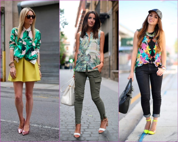 Tropical blouses